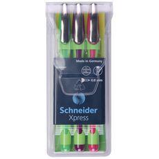 Lot de 3 stylos feutres Xpress assortiment fantaisie