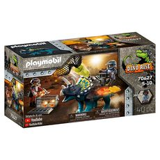 PLAYMOBIL 70627 - Dino Rise Triceratops et soldats