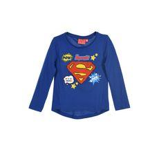 SUPERMAN T-shirt manches longues fille (Bleu)