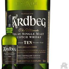 Whisky Ardbeg 10 ans avec étui 46% 70cl
