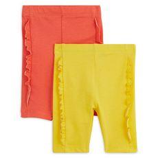 IN EXTENSO Lot de 2 leggings courts bébé fille (Orange)