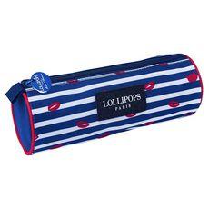 LOLLIPOPS Trousse ronde 1 compartiment bleu LITTLE LOLLIPOPS