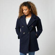 IN EXTENSO Manteau long bleu femme