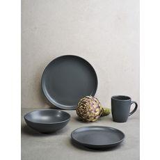 Service d'assiettes 18 pièces grès VIVIA DARK GREY (gris)