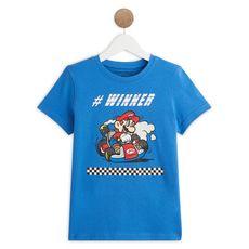 MARIO  T-shirt manches courtes garçon (Bleu vif )