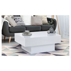 Table basse coulissante (Blanc)