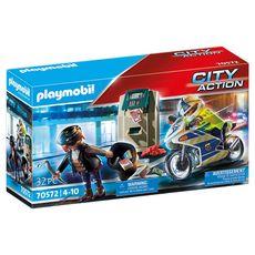 PLAYMOBIL 70572 - City Action - Police policier avec moto et voleur