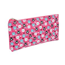 AUCHAN  Trousse plate fille Girly rose imprimé chats