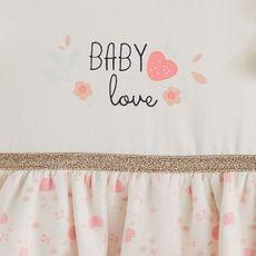 IN EXTENSO Ensemble de naissance robe + bandeau  bébé fille (Rose)
