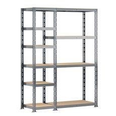 Concept rangement de garage MODULÖ STORAGE SYSTEME EXTENSION 2 étagères 10 plateaux longueur 150 cm