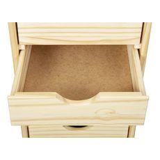 Caisson de bureau en bois massif sur roulettes 6 tiroirs ULLI (Bois)