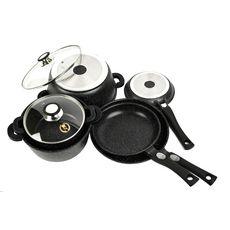 NAPOLEON Batterie de cuisine noire 18 pièces tous feux dont induction
