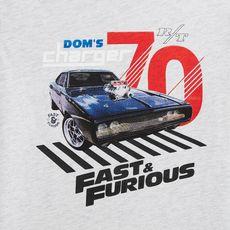 FAST AND FURIOUS T-shirt manches longues garçon (Gris chiné)