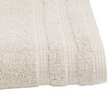 ACTUEL Drap de bain uni en coton bio organique 540 gr/m2 (Gris clair)
