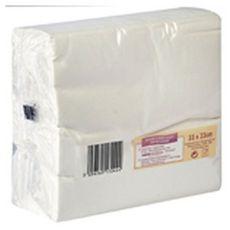 ACTUEL Serviettes en papier 33x33cm blanches x100 2 plis 100 pièces