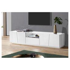 Meuble TV 4 portes 1 niche 1 tiroir L220cm VERONA