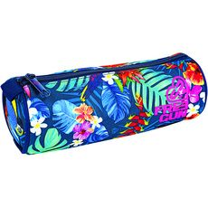 FREEGUN Trousse ronde bleue motifs fleurs