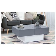Table basse coulissante (Gris)
