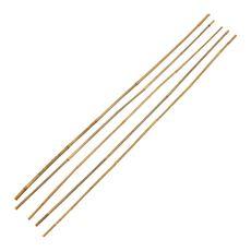 Lot de 5 tuteurs en bambou naturel - 90 cm, diamètre 8 mm