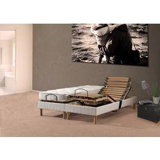 Ensemble relaxation électrique TPR matelas latex 160x200cm PRESTIGE LATEX