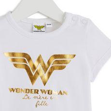 Wonder Woman T-shirt manches courtes Wonder Woman bébé fille (Blanc)