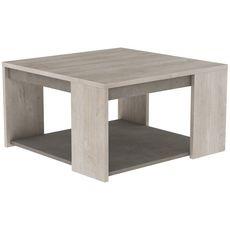 Table basse carrée avec niche ouverte L80cm CANNES  (Chêne/béton)