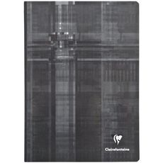 CLAIREFONTAINE Cahier piqué 24x32cm 48 pages petits carreaux 5x5 noir