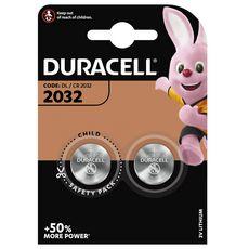 DURACELL Lot de 2 Piles Spéciales Bouton Lithium Appareils Electroniques - type 2032