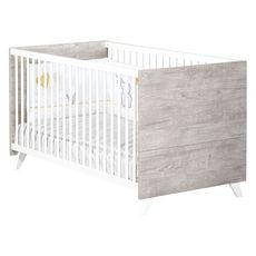 BABY PRICE  Lit bébé évolutif Little Big Bed 140x70cm SCANDI coloris gris