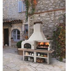 PALAZZETTI Combiné four barbecue pierre GARGANO 3