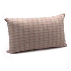TODAY Coussin fantaisie déhoussable en coton 145 g/m2  1 face velours 1 face motif géométrique TERRA ROSA