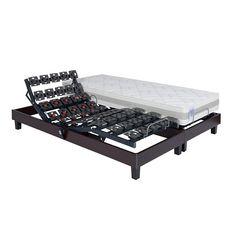 PRESTIGE Collection Lit relaxation électrique TPR mousse mémoire de forme 55kg/m3 - H21cm - 160x200 cm TERRAFLEX