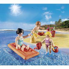 PLAYMOBIL Oeuf Maman et enfants à la plage