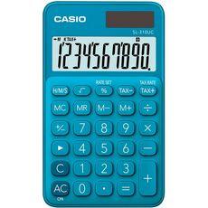 CASIO  Calculatrice arithmétique de poche SL-130UC bleue