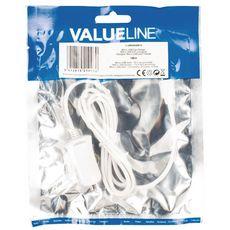 ValueLine Chargeur micro USB mâle pour micro USB pour voiture - Blanc