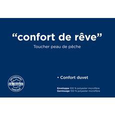 Oreiller sensation duvet CONFORT DE REVE (Blanc)