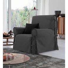 Housse de fauteuil à nouettes en coton (Anthracite)