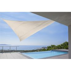 Voile d'ombrage triangulaire 5x5x5m ivoire SHADOW 2