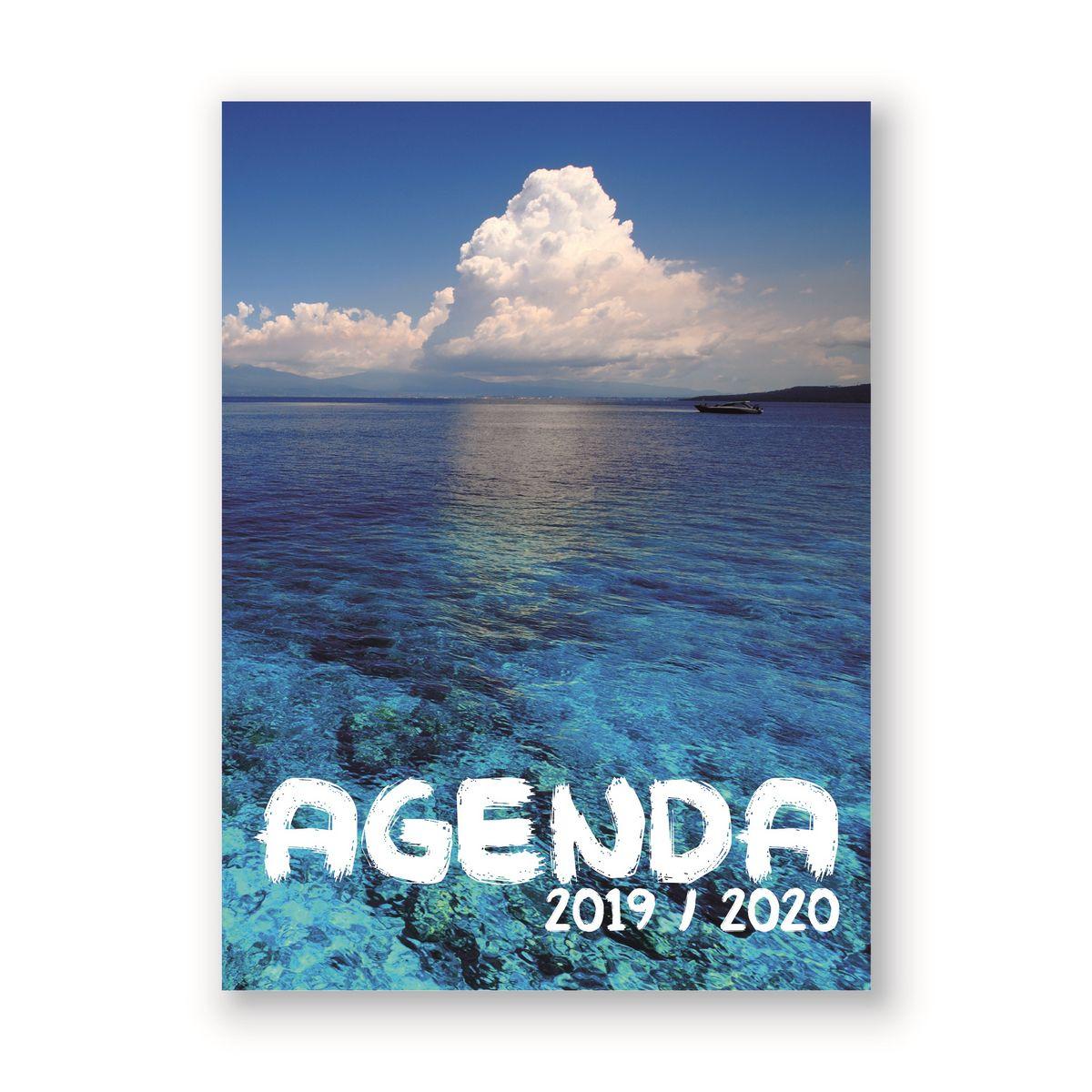 Agenda scolaire journalier 320 pages 119x163cm lycéen fantaisie mer 2019 2020