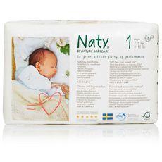 NATY NEW BORN Couches Écologique T1 (2-5 kg) X26