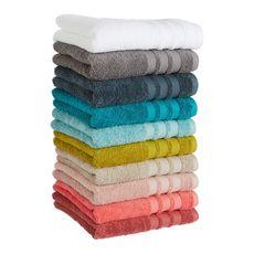 ACTUEL Drap de bain uni en coton 500 g/m² (Blanc)
