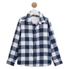 IN EXTENSO Ensemble chemise manches longues à carreaux + t-shirt garçon