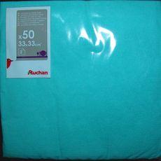 ACTUEL Lot de 50 serviettes carrées 2 plis 33 cm