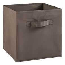 Tiroir boîte en tissu et carton BRIK, 12 coloris (Taupe)