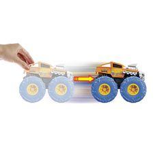 MATTEL Hot Wheels - Véhicule Monster Trucks 1/43 - Ragin Cage'n vert