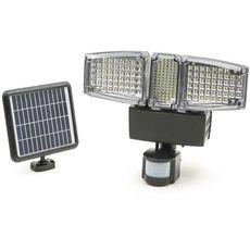Projecteur solaire 3 têtes LED