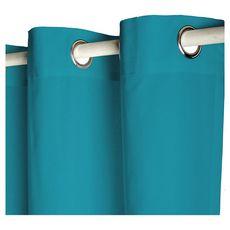 TODAY Rideau à oeillets isolant double face en polyester 140x240 cm (Bleu vert)