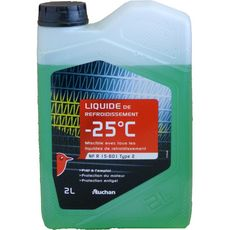 AUCHAN Liquide de refroidissement -25° 2l 2l