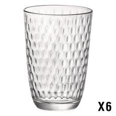 BORMIOLI ROCCO Set de 6 verres à eau SLOT LONG DRINK 39 cl