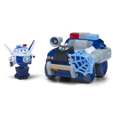 """Auldey Véhicule à fonction + 1 transform bot """"Paul's police patroller""""  - Super Wings"""